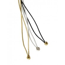 Elastic Bands, colors black, gold, and silver
