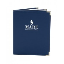 Entry-Level Hardcover Menu Cover, blue color