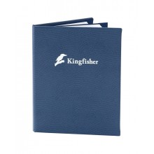 Ostrich Menu Cover, blue color