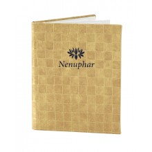 Thick Basket Weave Menu Cover, gold color
