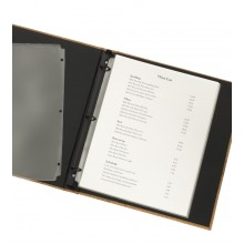 Page protectors in a ring binder, clear plastic