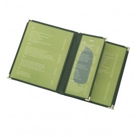 Cafe Add-a-Pages (Leatherette), Green color – page partially inserted