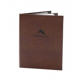 Bonded Leather Menu Cover, brown color