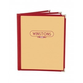 Cafe Menu Cover (Leatherette), red color