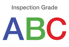 Image of restaurant inspection grade letters