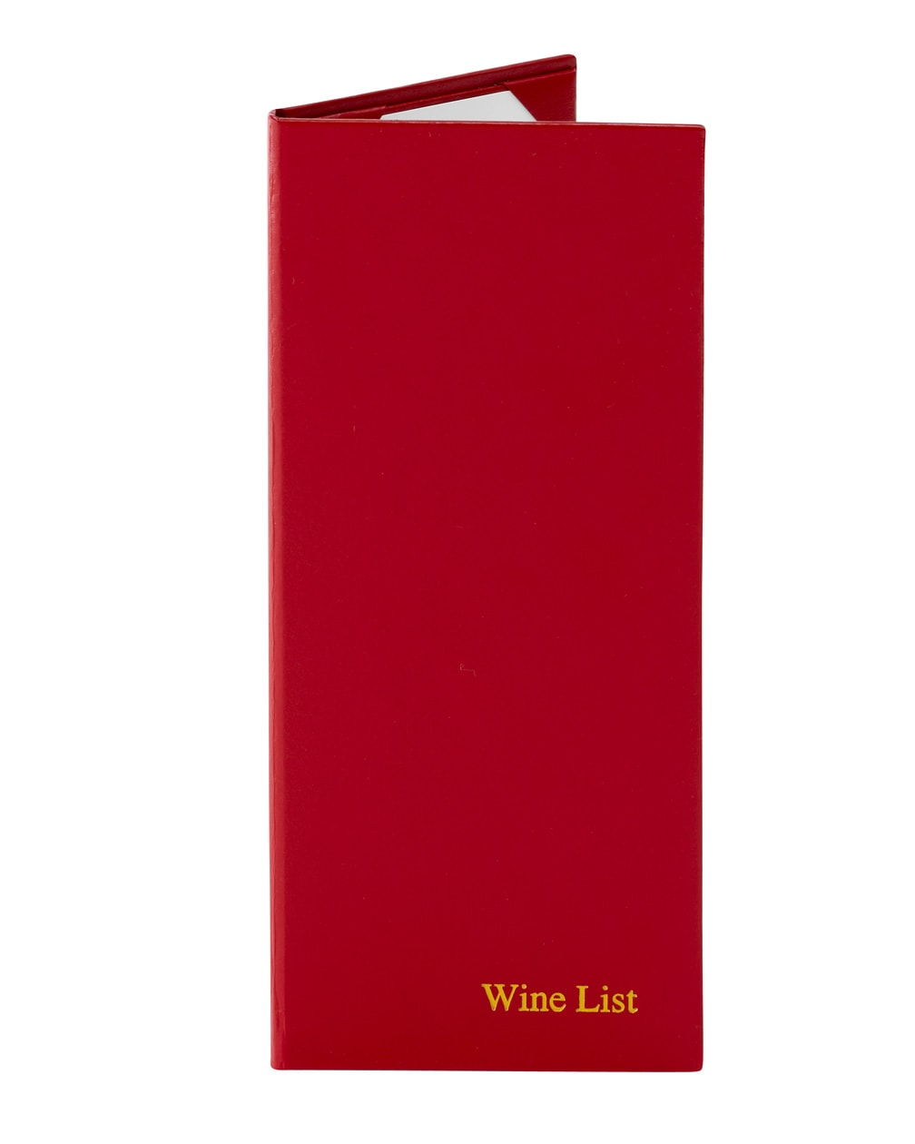 Standard Hardcover Menu Cover, red color
