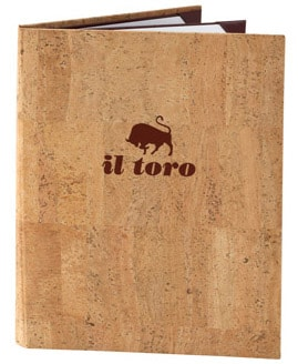 Cork Menu Cover, light cork color